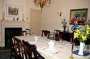 Dining Room at the Terry House Bed and Breakfast, New Castle, Delaware