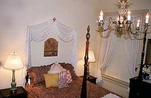 One of the three largest guest rooms at the Terry House B&B in New Castle, Delaware